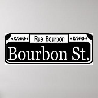 Placa de calle de Borbón Impresiones