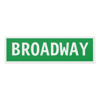 Placa de calle de Broadway Cuadro