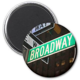 Placa de calle de Broadway Imán Redondo 5 Cm