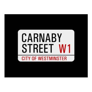 Placa de calle de Carnaby Tarjeta Postal
