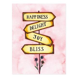 Placa de calle de la felicidad postal