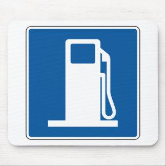 Placa de calle de la gasolinera alfombrilla de raton