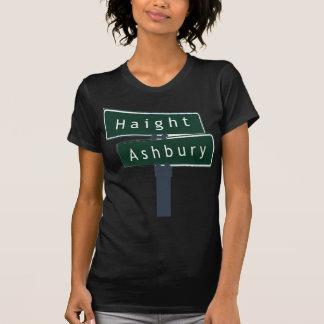 Placa de calle de la obra clásica de Haight Camisetas