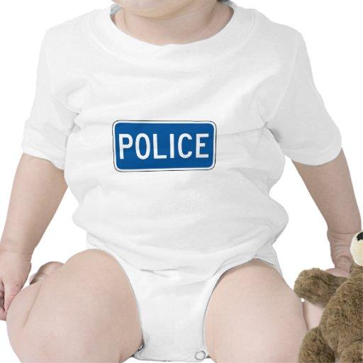 Placa de calle de la policía traje de bebé