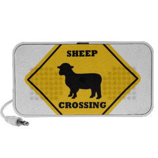 Placa de calle de la travesía de las ovejas mini altavoz