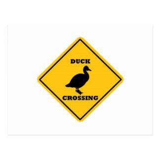 Placa de calle de la travesía del pato postal