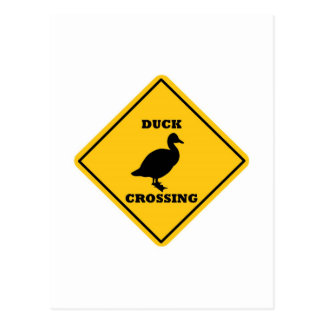 Placa de calle de la travesía del pato tarjetas postales