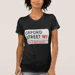 Placa de calle de Londres de la calle de Oxford Poleras