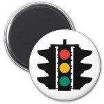 Placa de calle de los semáforos imán