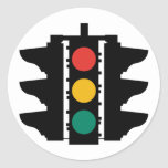 Placa de calle de los semáforos pegatinas redondas