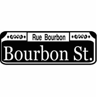 Placa de calle de New Orleans Borbón Fotoescultura Vertical
