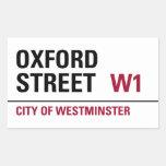 Placa de calle de Oxford (paquete de 4) Pegatinas