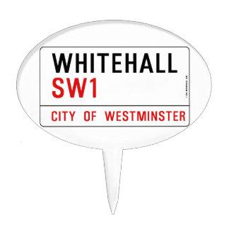 Placa de calle de Whitehall Londres Decoraciones De Tartas
