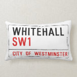 Placa de calle de Whitehall Londres Almohadas