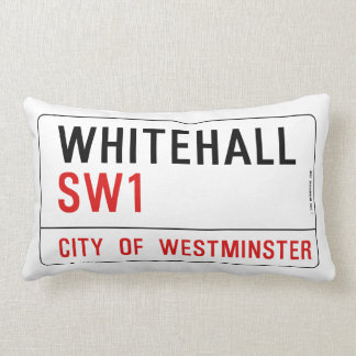 Placa de calle de Whitehall Londres Cojín