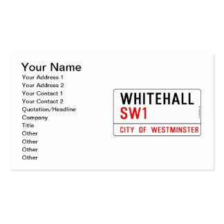 Placa de calle de Whitehall Londres Tarjetas De Visita