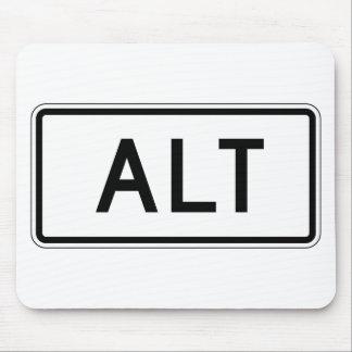 Placa de calle del ALT Mousepad