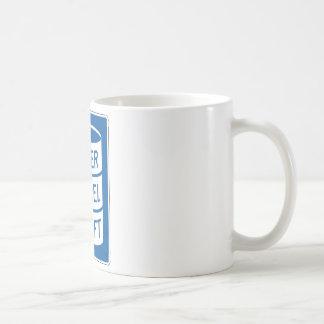 Placa de calle del barril de la litera taza básica blanca