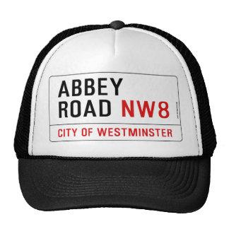 Placa de calle del camino de la abadía gorras