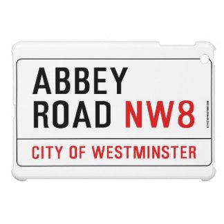 Placa de calle del camino de la abadía iPad mini fundas