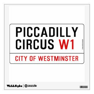 Placa de calle del circo de Piccadilly