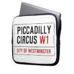 Placa de calle del circo de Piccadilly Funda Portátil
