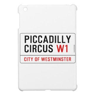 Placa de calle del circo de Piccadilly iPad Mini Protector