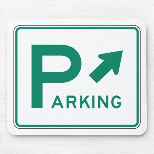 Placa de calle del estacionamiento tapete de ratón