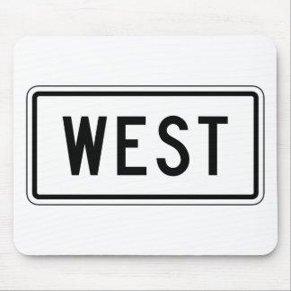 Placa de calle del oeste tapete de ratones
