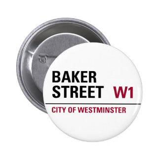 Placa de calle del panadero pin