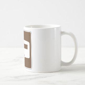 Placa de calle del remolque taza básica blanca