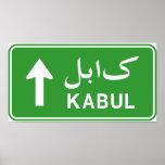 Placa de calle del tráfico de la carretera de Kabu Impresiones