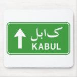 Placa de calle del tráfico de la carretera de Kabu Alfombrilla De Ratón