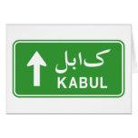 Placa de calle del tráfico de la carretera de tarjeta de felicitación