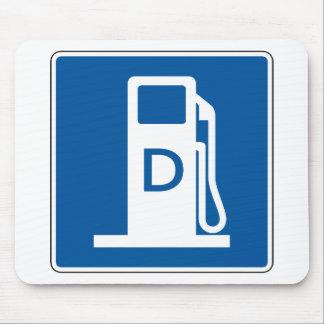 Placa de calle diesel del gas tapete de raton