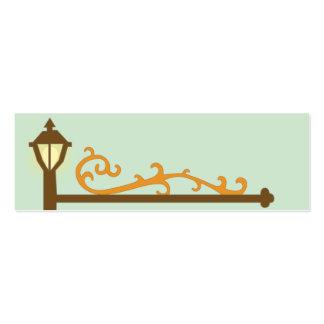 Placa de calle - flaca tarjetas de visita mini