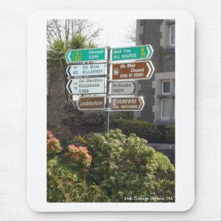 Placa de calle irlandesa mouse pad