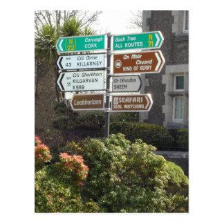 Placa de calle irlandesa postales