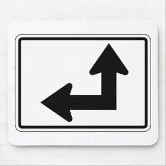 Placa de calle izquierda recta tapetes de raton