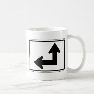 Placa de calle izquierda recta taza básica blanca