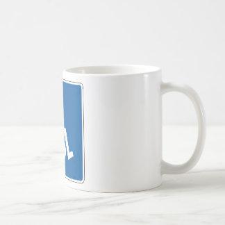 Placa de calle lisiada taza básica blanca