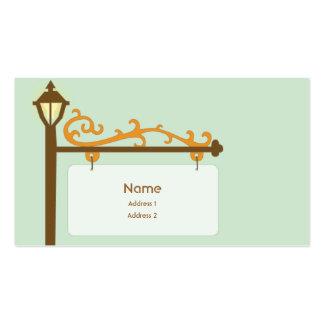 Placa de calle - negocio tarjeta personal