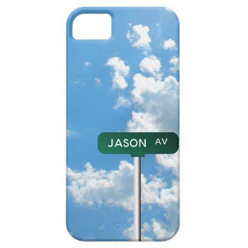 Placa de calle personalizada del nombre de la aven iPhone 5 coberturas