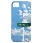 Placa de calle personalizada del nombre del camino iPhone 5 protector