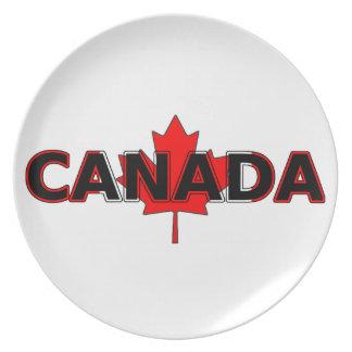 Placa de Canadá (con la hoja de arce) Plato De Comida