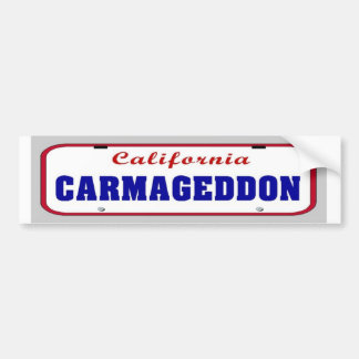 Placa de Carmageddon Etiqueta De Parachoque