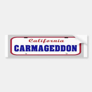 Placa de Carmageddon Pegatina Para Auto