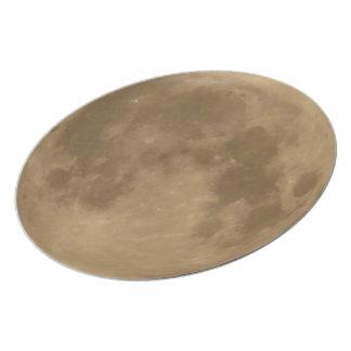 Placa de cena de la luna plato de cena