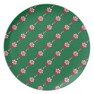 Placa de cena de la melamina de los Lollipops de Platos De Comidas
