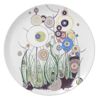 Placa de cena de la zarza del jardín plato
